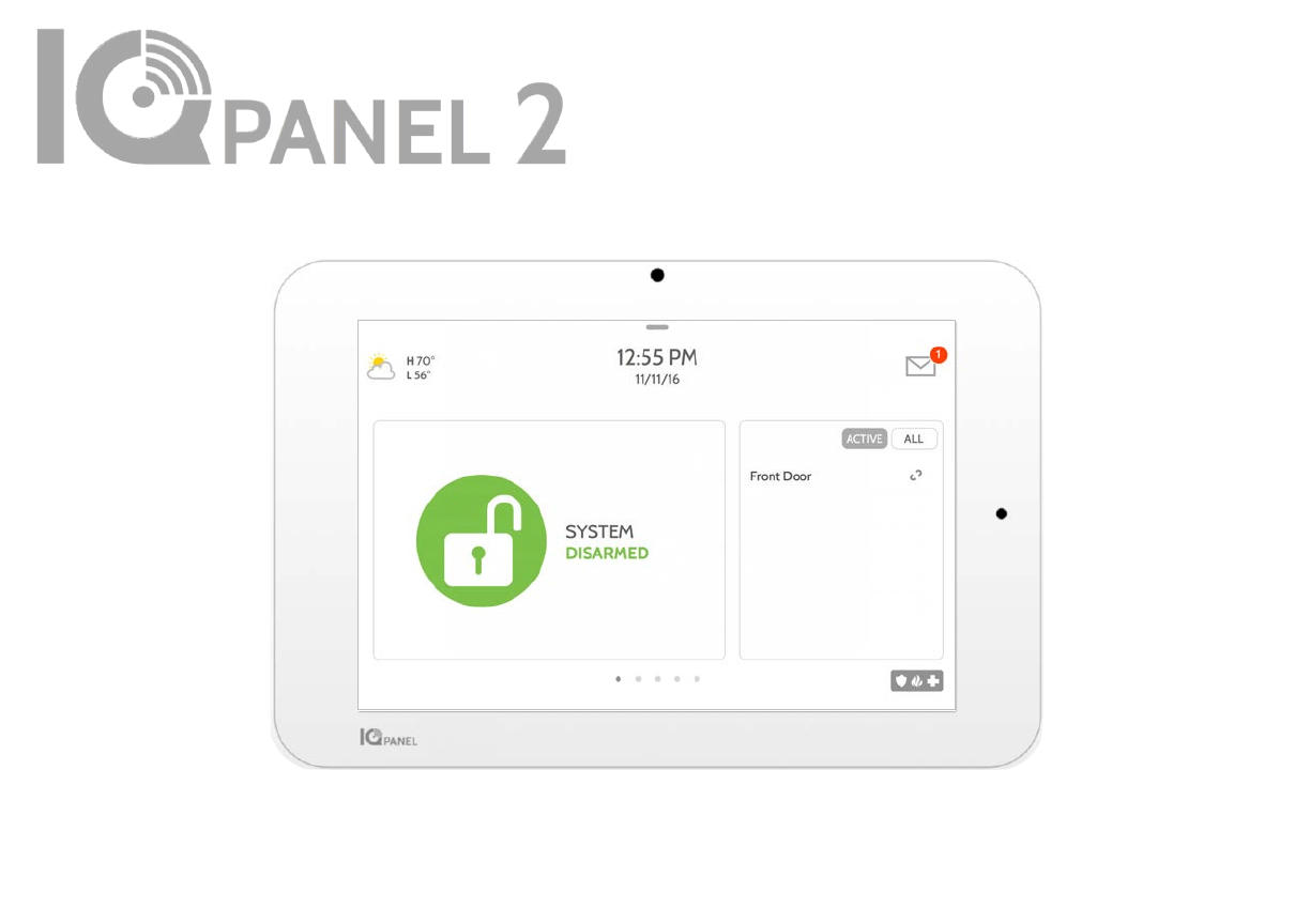 IQ2 panel home security sold by Amherst Alarm