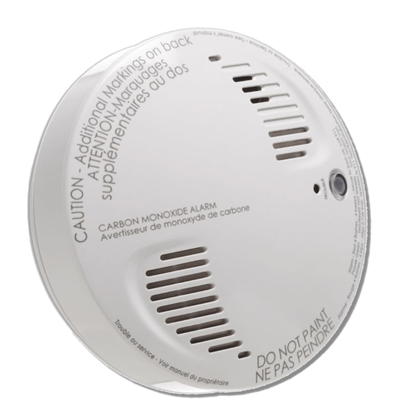 Residential CO Carbon Monoxide detector used with Home Security System