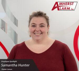 Samantha Hunhter Amherst Alarm Employee Spotlight Customer Service Department
