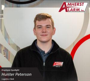 Hunter Peterson Amherst Alarm Employee Spotlight Operations Department