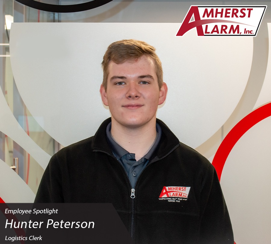 Hunter Peterson Amherst Alarm Employee Spotlight Operations Department