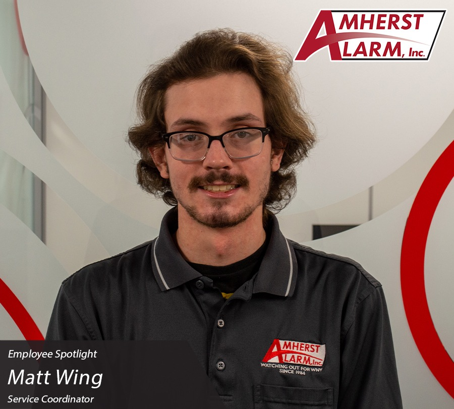 Matt Wing Amherst Alarm Employee Spotlight Service Department