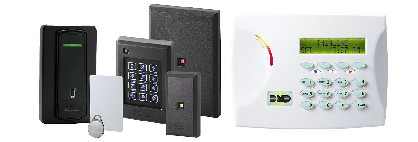 Access Control package panels and key pads with key fobs